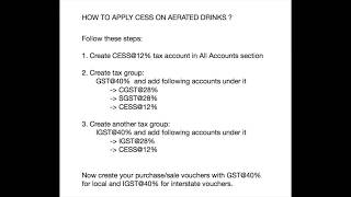 How to Apply CESS In GST | Creating Tax Group | GST Additional Tax | MULTI TAX Rate under GST