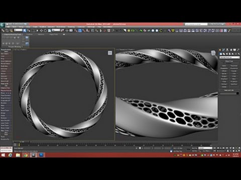 3D Tutorial | Modeling Triply Twisted Torus With Holes | 3dsmax