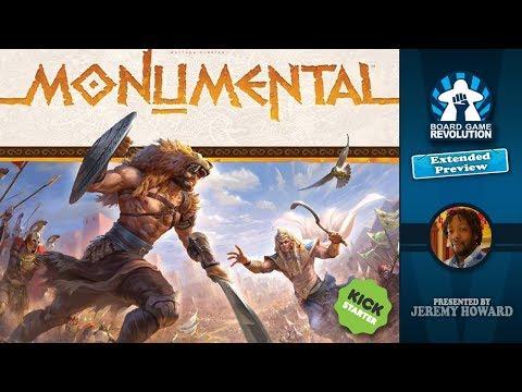 Monumental Kickstarter Preview by Jambalaya Plays Games