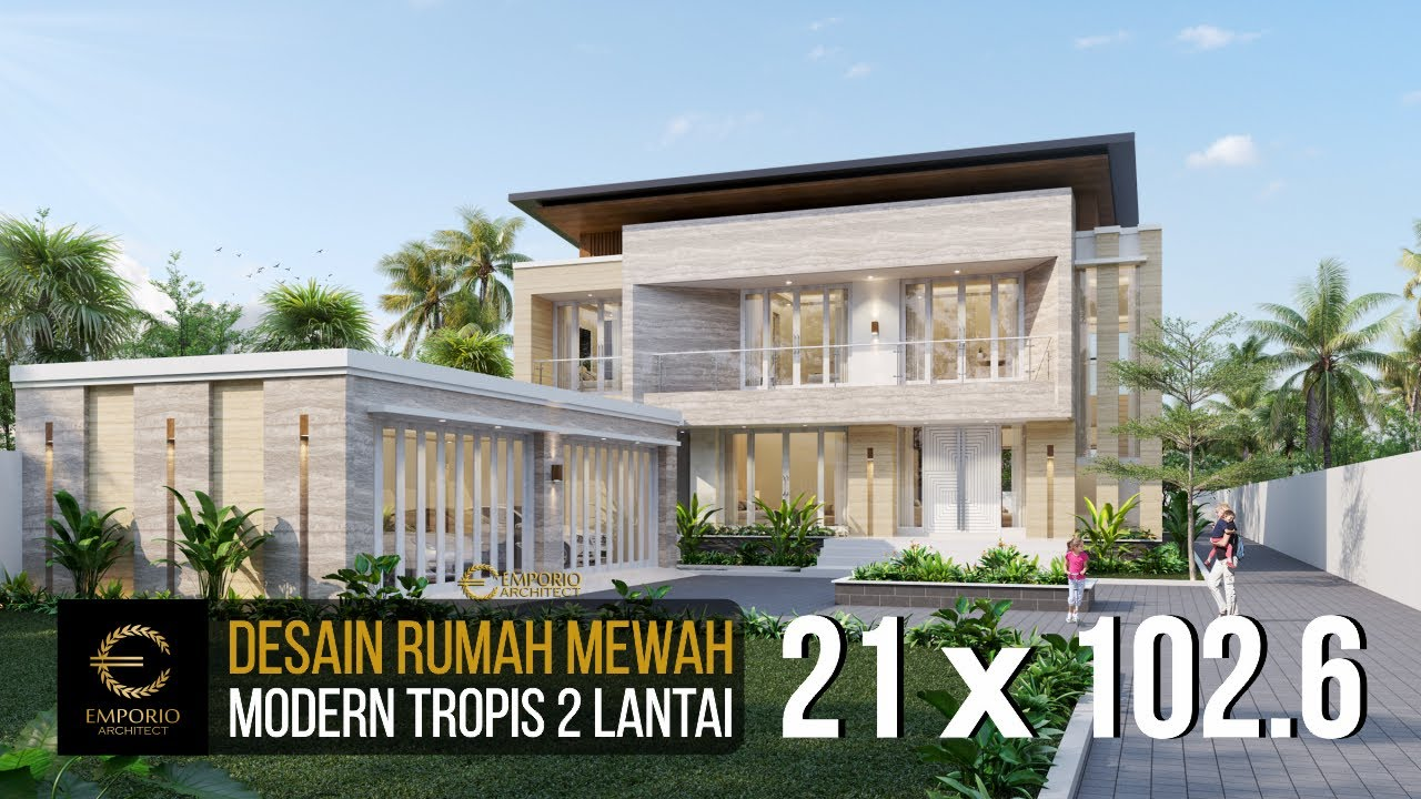 Video 3D Mr. Dicky Modern House 2 Floors Design - Palu, Sulawesi Tengah