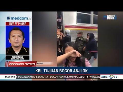 Dua Gerbong KRL Jakarta-Bogor Terguling