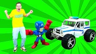 Прокачиваем полицейскую машину для гонок! Видео с играми для мальчиков.