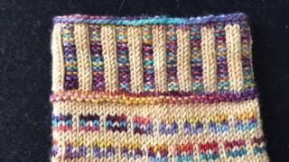 2X2 Corrugated Ribbing / Stranded Knitting