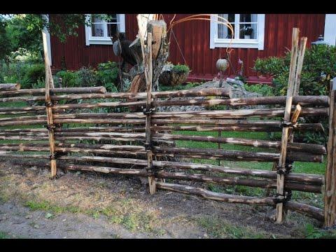 Build Swedish Wooden Fence   Gärdesgård   Schwedischer Holzzaun