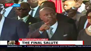 Mzee Moi accorded highest Military Honour among them 19 gun salute