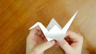 Оригами журавль из бумаги | Как сделать Оризуру (Orizuru/折鶴)