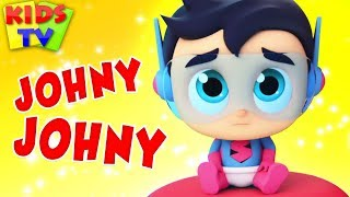 Johny Johny Yes Papa | The Supremes Cartoons | Nursery Rhymes & Songs for Babies