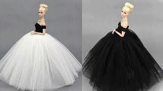 4 Gorgeous DIY Barbie Doll Dresses 👗 Barbie Skirt & Glamorous Party Gown For Barbie