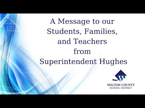 Superintendent's Message March 27