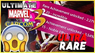 I GOT TWO ULTRA RARE ACHIEVEMENTS IN ONE MATCH IN ULTIMATE MARVEL VS CAPCOM 3 FOR XBOX ONE