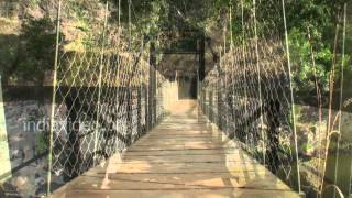 Kunthi Hanging Bridge in Silent Valley, Palakkad