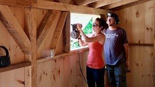 Couple Builds Post & Beam DREAM BARN (Installing Windows And Trim Work)