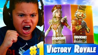 MY LITTLE BROTHERS REACTION TO THE CRACKSHOT COMING BACK! BIGGEST RAGE IN FORTNITE HISTORY! NEW SKIN