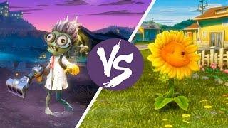 Scientist Vs Sunflower Plants Zombies Garden Warfare