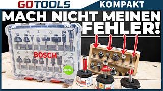 Die perfekten Fräser? CARBIDE Qualität und mehr: Bosch Fräser Sets und Expert for Wood Fräser