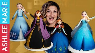 Disney Frozen Anna And Elsa Princess Cake Decorating Tutorials - Frozen 2