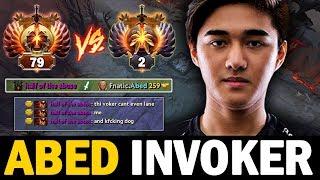 Unbelievable!! Abed Invoker Against Hard Shadow Fiend Rank 79 Mid | Dota 2 Invoker
