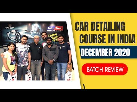 Dec '20 Batch | Car Detailing Training in India | Car Detailing Course ...