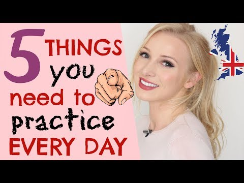 5 things to practice every day to improve your English communication skills