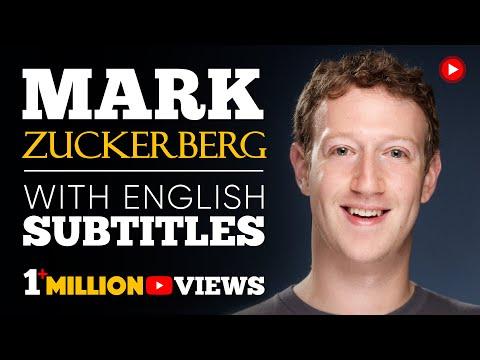 LEARN ENGLISH   MARK ZUCKERBERG: Find Your Purpose (English Subtitles)