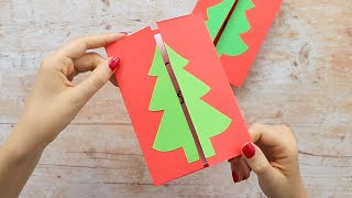 Simple Homemade Christmas Card Ideas - Christmas Tree Card
