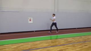 Indoor race walking training competition 04
