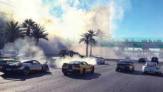 POLICE ESCORT SUPERCARS DESTROYING LAS VEGAS BLVD! *ABSOLUTE CHAOS!!!!*