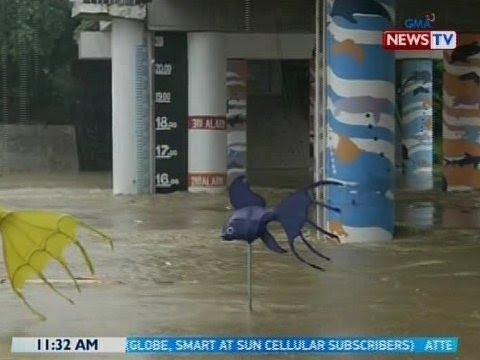 [GMA]  BT: Antas ng tubig sa Marikina River, patuloy na binabantayan