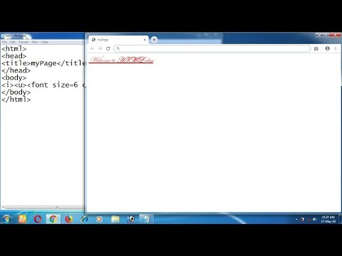 How To Apply, Bold, Italic, Underline, Font Elements At HTML || In Hindi