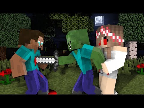 Monster School : Sad Herobrine | Zombie Life 8 - Minecraft Animation