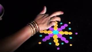 Quiick, simple  rangoli for Diwali with finger technique | Sudha Balaji