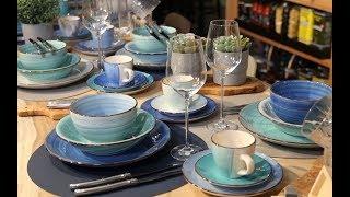 Koffiemokken Ocean Blue 35 cl - 6 Stuks