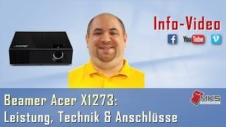Acer X1273 (MR.JHE11.001) Proektor
