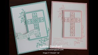 Creating Religious Cards Using The Hold On To Hope Stampin' Up Bundle - Laura's Stamp Pad