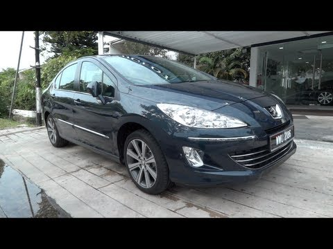 2012 Peugeot 408 Turbo Start-Up and Full Vehicle Tour
