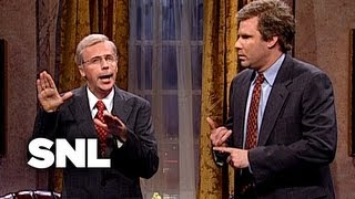 George H. W. Bush Gives Debate Advice to George W. Bush - SNL
