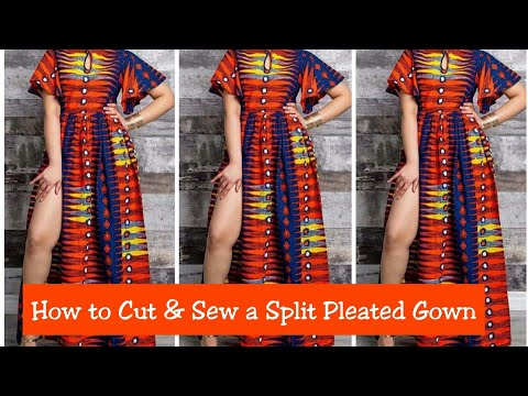 How to Cut and Sew a Slit Pleated Ball Gown
