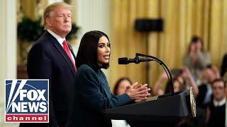 Trump, Kim Kardashian deliver remarks on second chance hiring