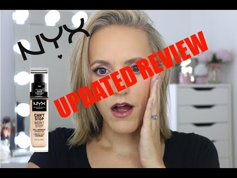 UPDATED NYX Can't Stop Won't Stop Foundation Review