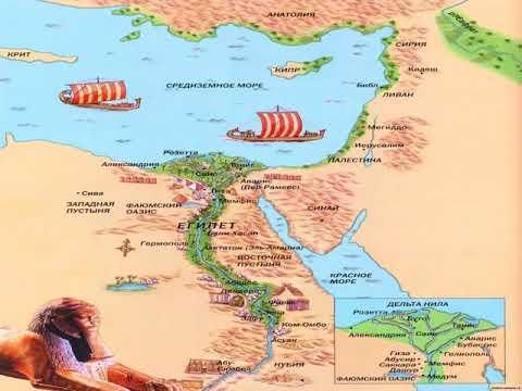 карта достопримечательностей древнего египта