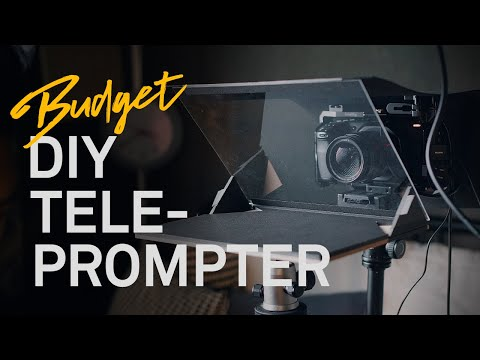 Cheap DIY Teleprompter! [How to make a teleprompter without power tools]