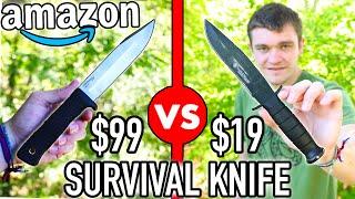 $99 VS $19 AMAZON SURVIVAL KNIFE!