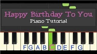 Easy Piano Tutorial: Happy Birthday to You! (slow tempo)