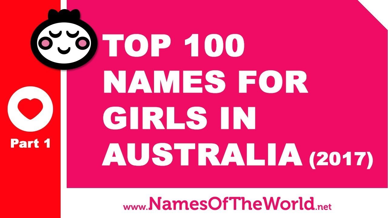 Top 100 baby girl names in Australia 2017 Part 1 - the best baby names - www.namesoftheworld.net