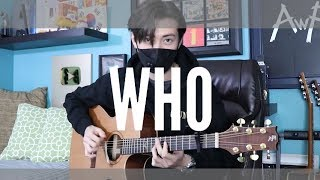 Who - Lauv feat. BTS ( Jungkook and Jimin) Cover (fingerstyle guitar)