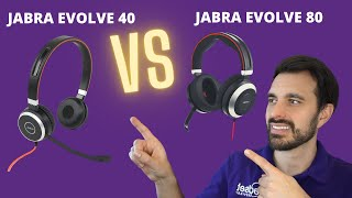 Jabra Evolve 40 vs Jabra Evolve 80 - With Mic & Sound Showdown