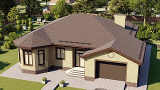 Проект дома 183-A, Площадь дома: 183 м2, Размер дома:  17,5x17,1 м