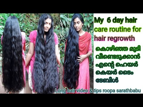 My hair care routine 6 day its secret explained...എന്റെ 6 ദിവസത്തെ മുടി പരിചരണവും അതിന്റെ ഫോർമുലയും