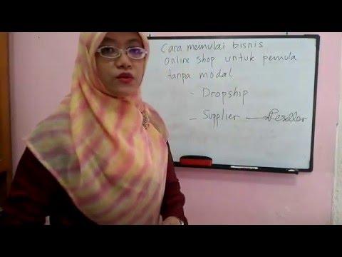 Video Cara Memulai Bisnis Online Shop Untuk Pemula Tanpa Modal by Karlin-Trainer Surabaya