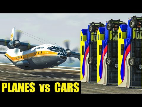PLANES vs CARS #2 - BeamNG Drive Crashes
